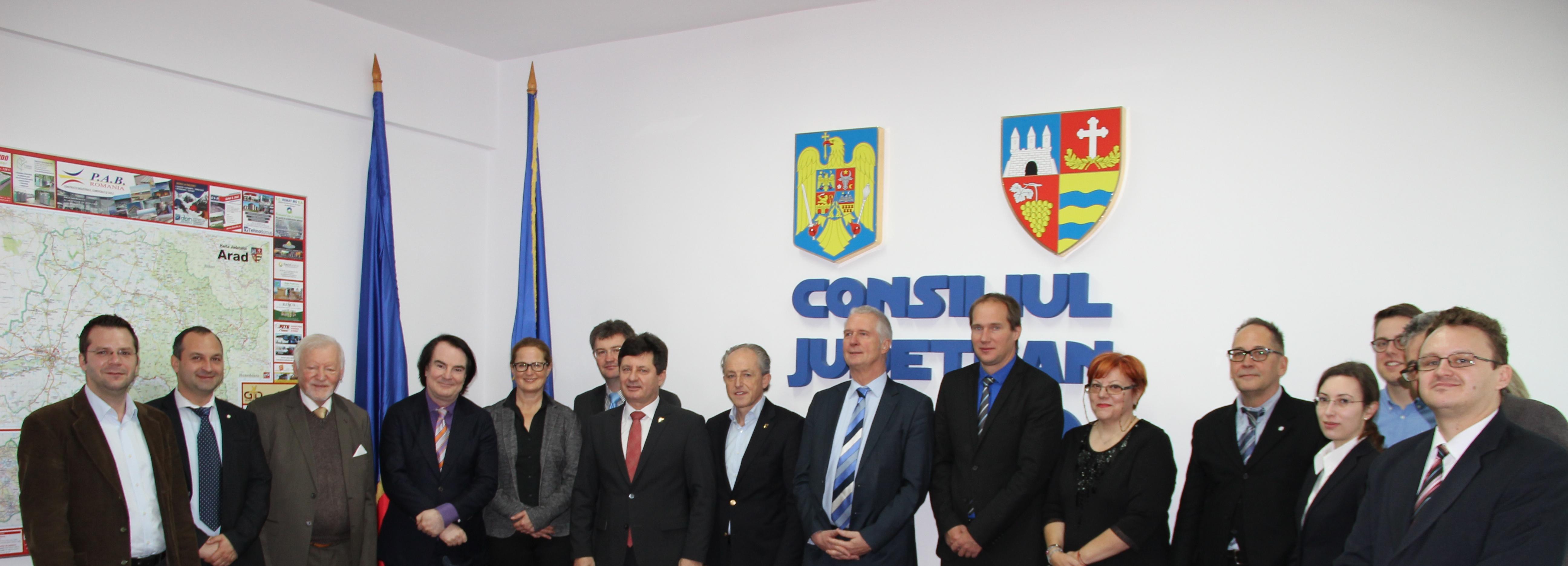Iustin Cionca, preşedintele Consiliului Judeţean Arad, s-a întâlnit cu reprezentanţi ai Comisiei Internaţionale de Acreditare AHPGS