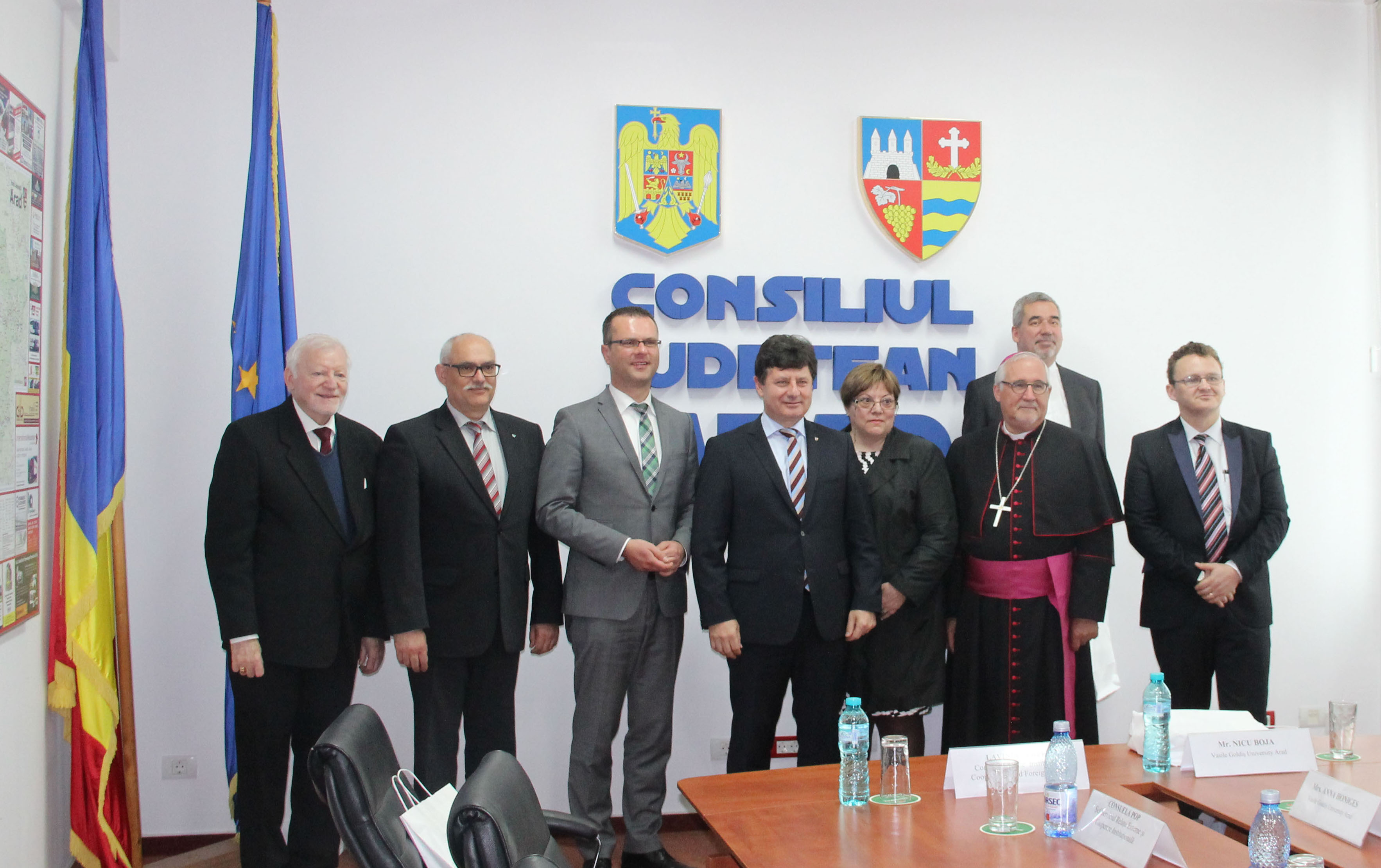 La invitaţia UVVG Arad, Delegaţie din Germania, în vizită oficială la Consiliul Judeţean Arad