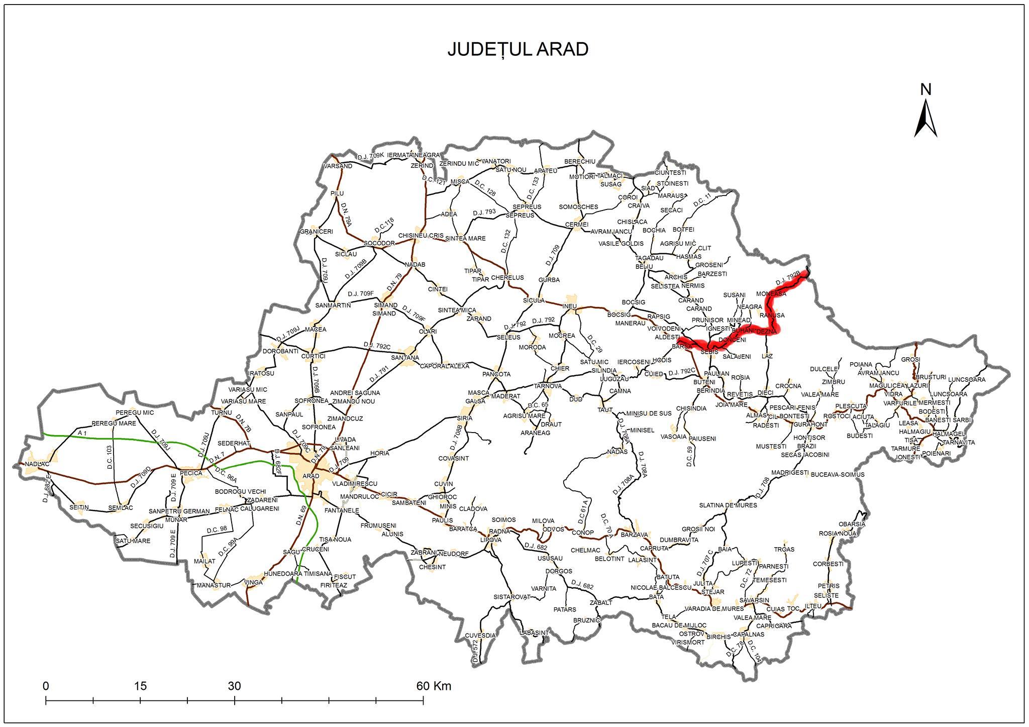 """Sergiu Bîlcea, vicepreşedinte Consiliul Judeţean """"Am finalizat documentaţia la drumul Bîrsa-Moneasa. Aşteptăm finanţarea!"""""""