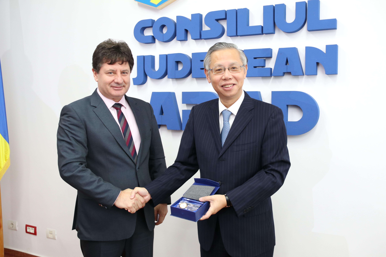 Vizită chineză la Consiliul Judeţean Arad