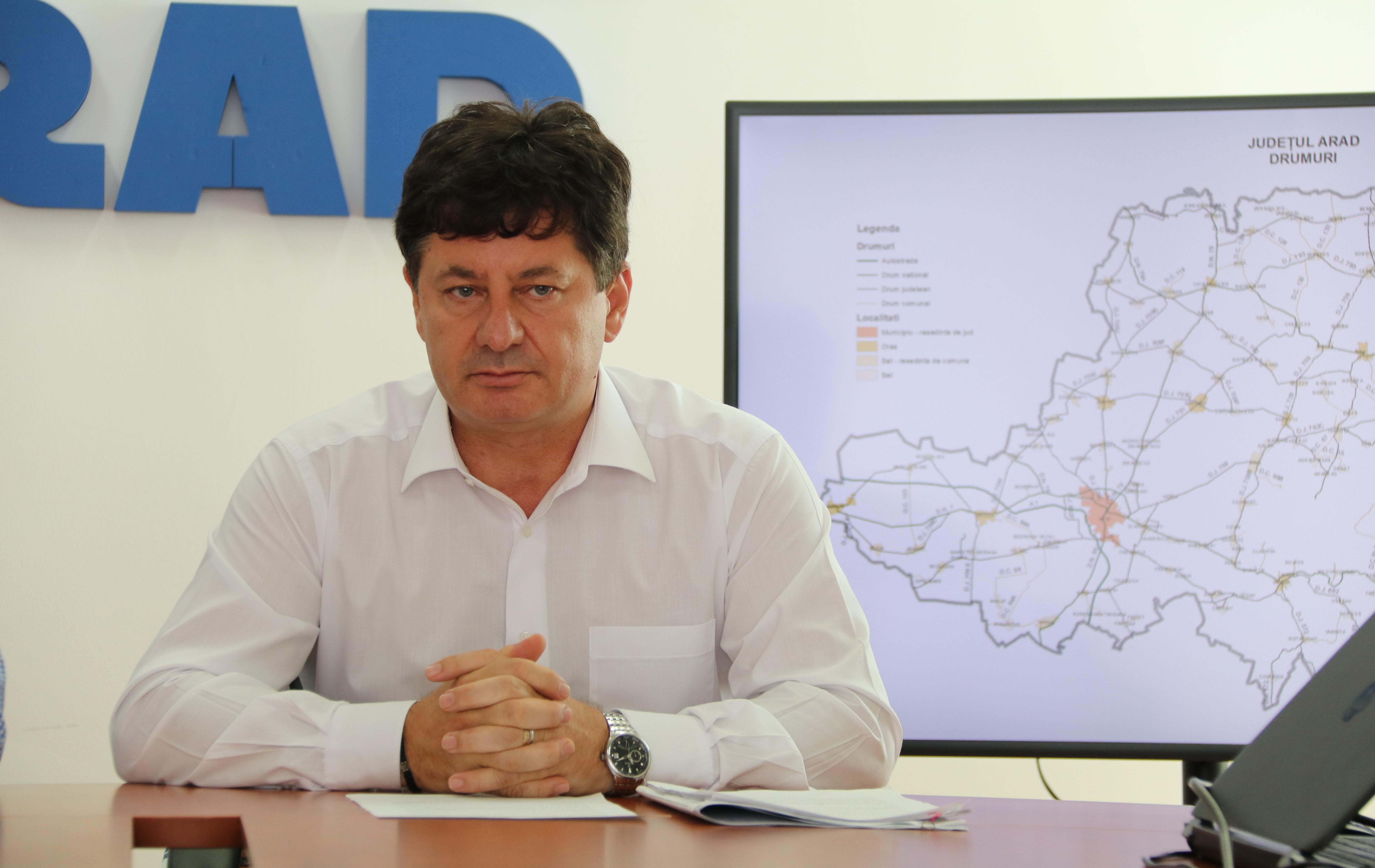 """Iustin Cionca, președintele CJ Arad: """"Zeci de comune din județul Arad riscă falimentul!"""""""