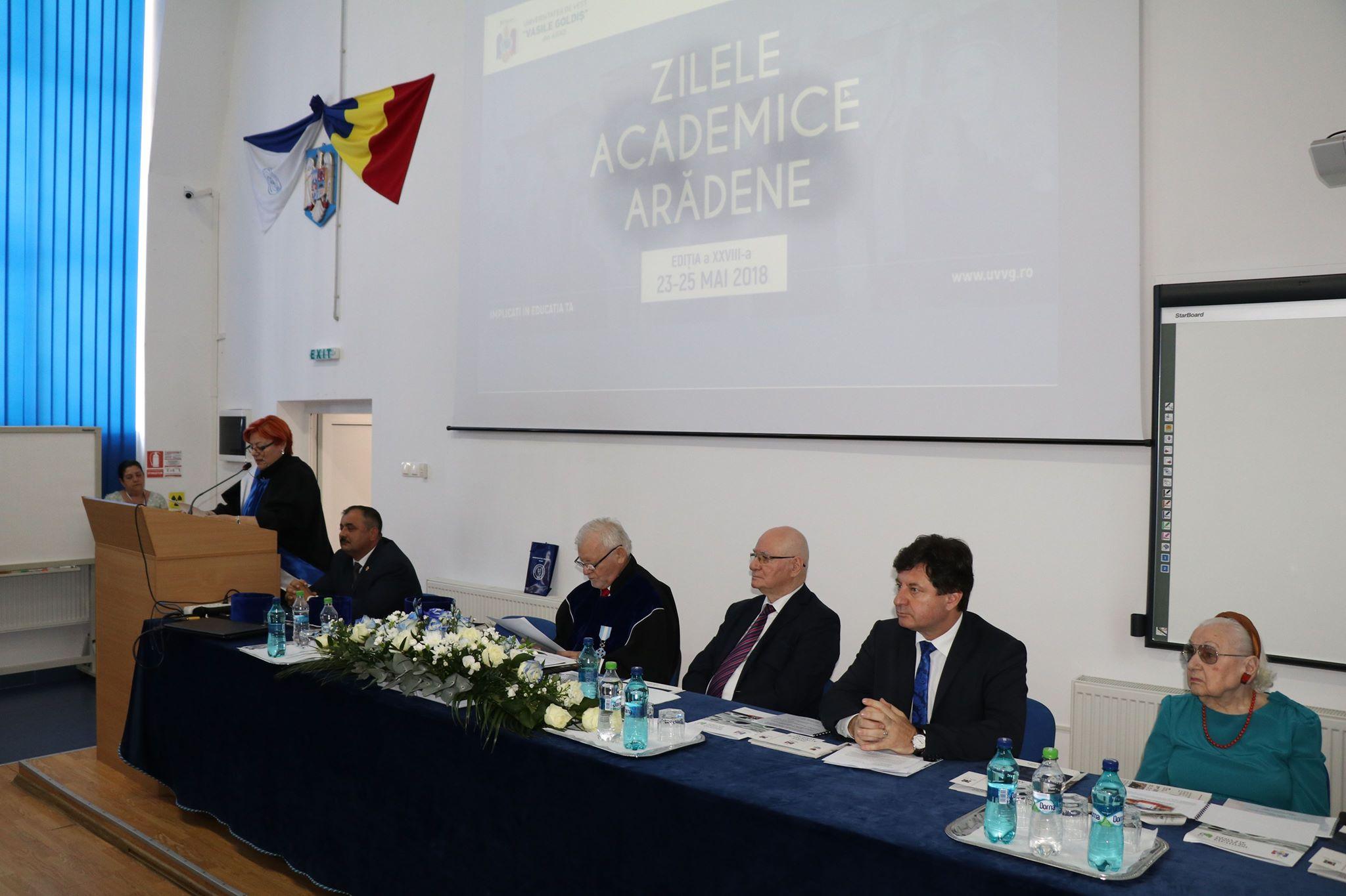 """Iustin Cionca, preşedintele Consiliului Judeţean Arad, la deschiderea Zilelor Academice ale Universităţii de Vest """"Vasile Goldiş"""": """"Noi, aici, la Arad, am avut șansa unor personalități care au clădit frumos și durabil pentru comunitatea noastră"""""""