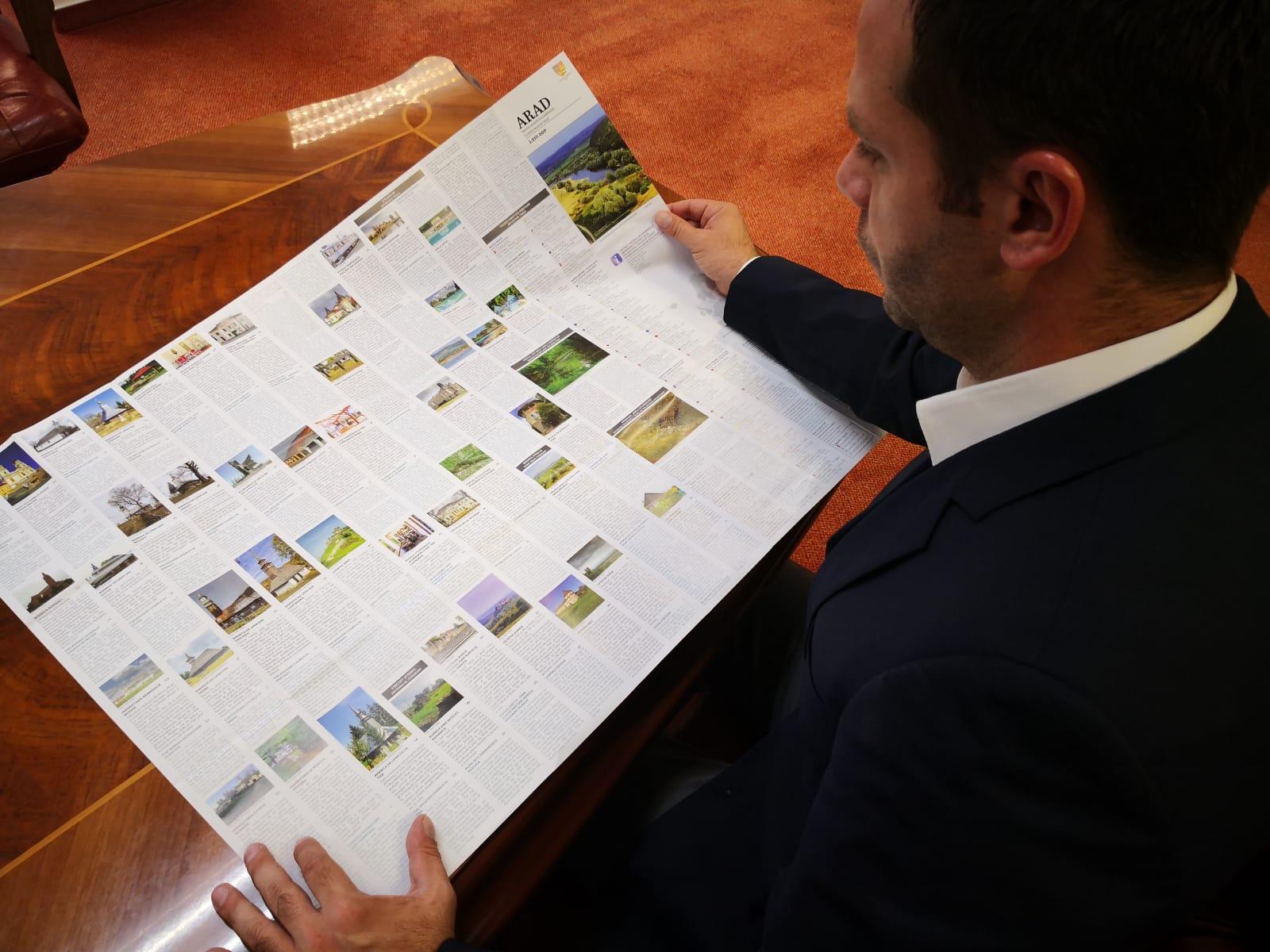 Consiliul Județean Arad a tipărit harta turistică a județului și a municipiului!