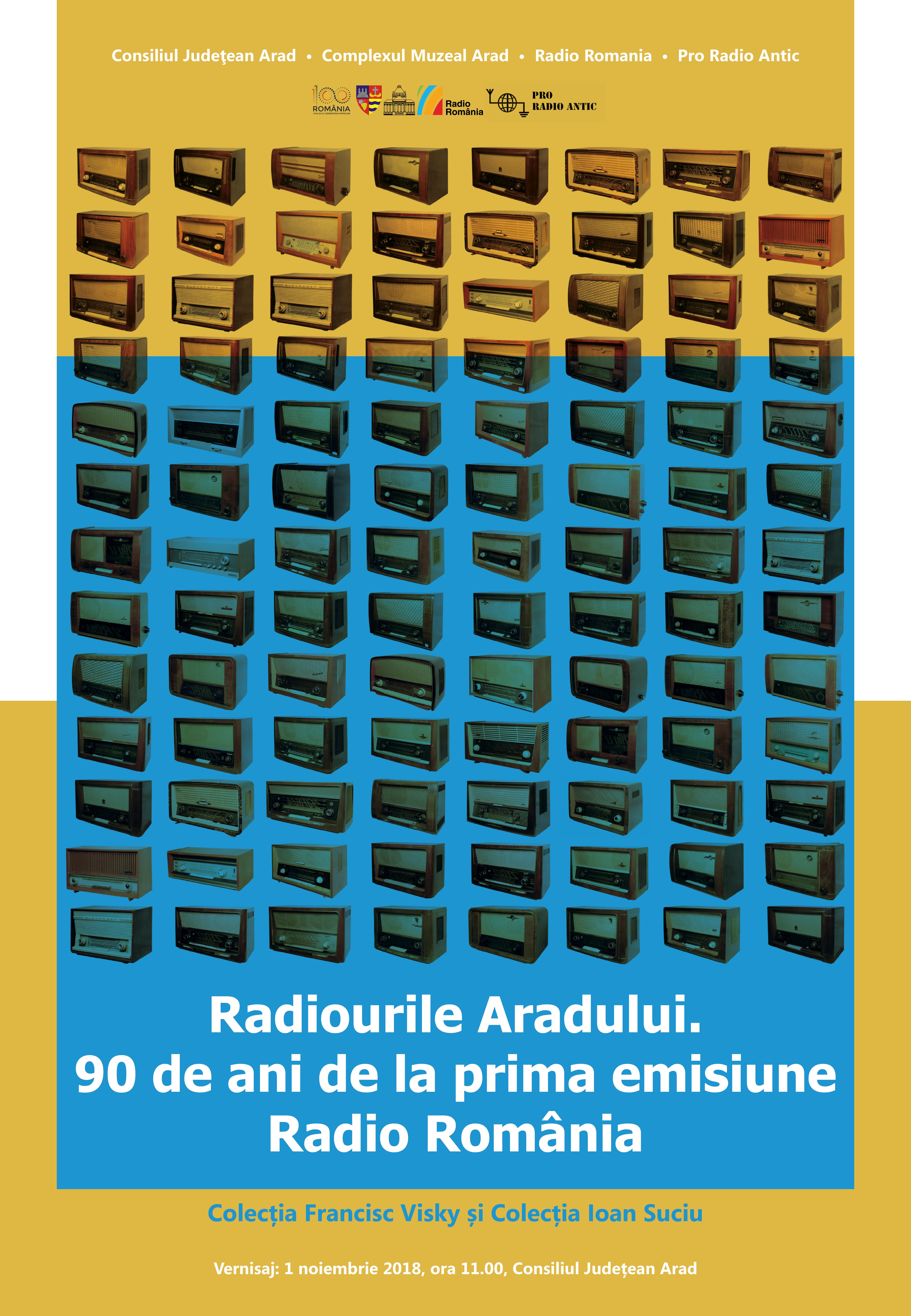 Radiourile Aradului în expoziție, cu ocazia împlinirii a 90 de ani de Radio Romania