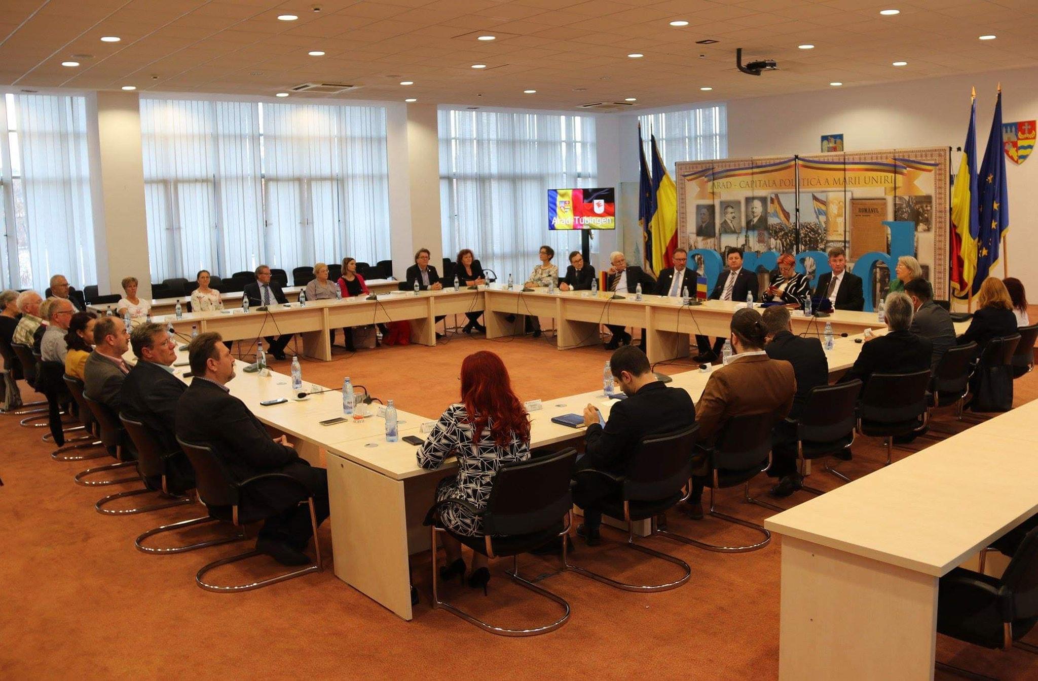 Delegația din Germania, la Consiliul Județean Arad