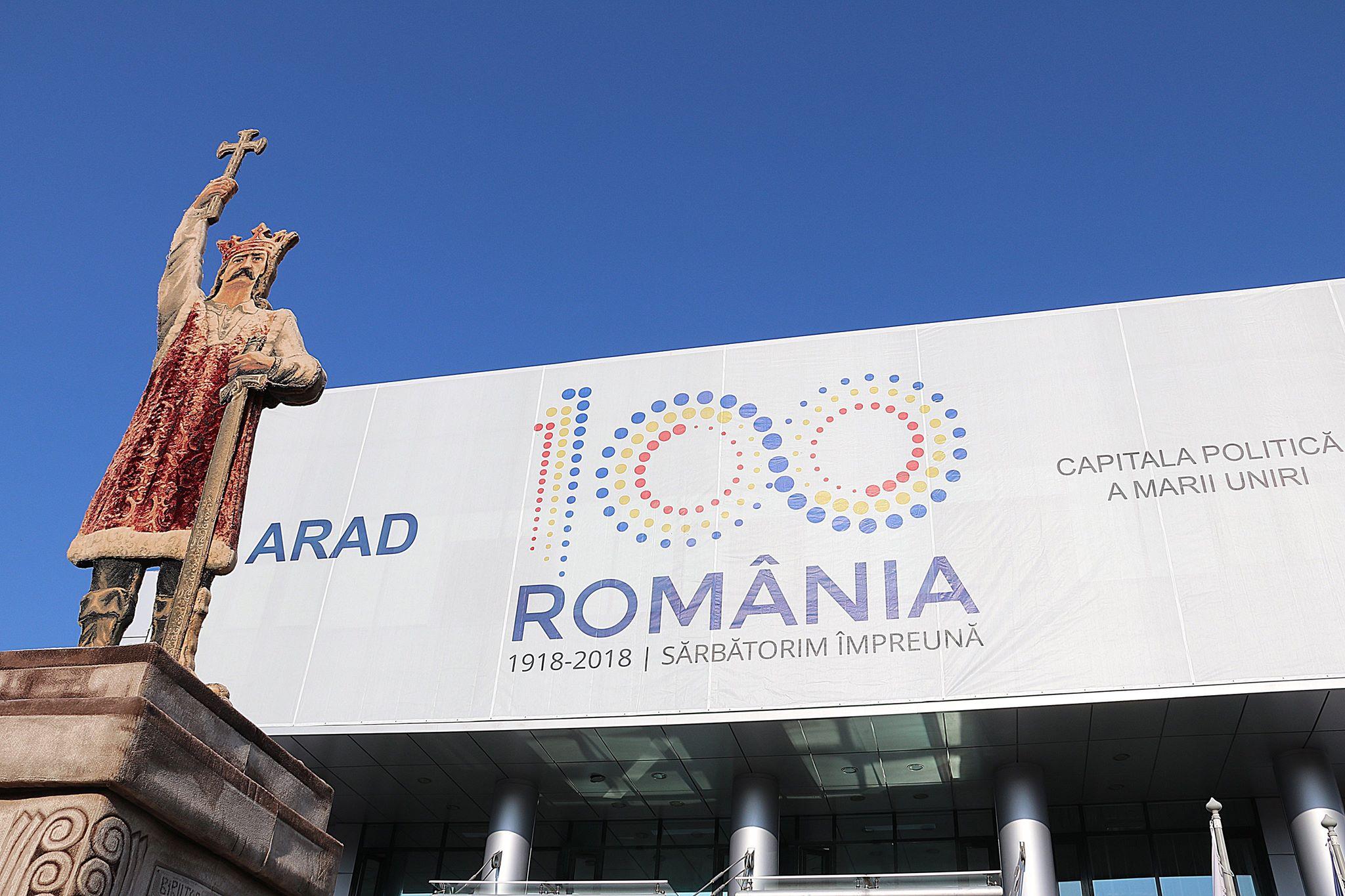 O statuie de șapte metri a lui Ștefan cel Mare promovează Forumul Economic Româno-Moldovenesc de la Arad!