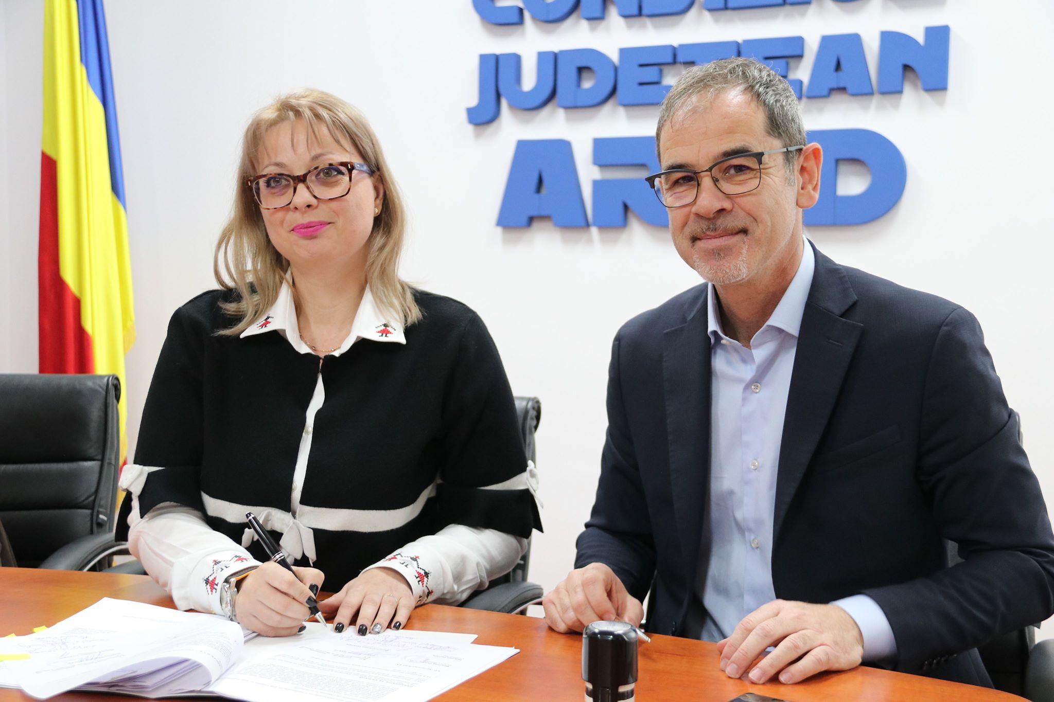 Reprezentanții TAROM, încântați de investițiile realizate de Consiliul Județean la Aeroportul Arad