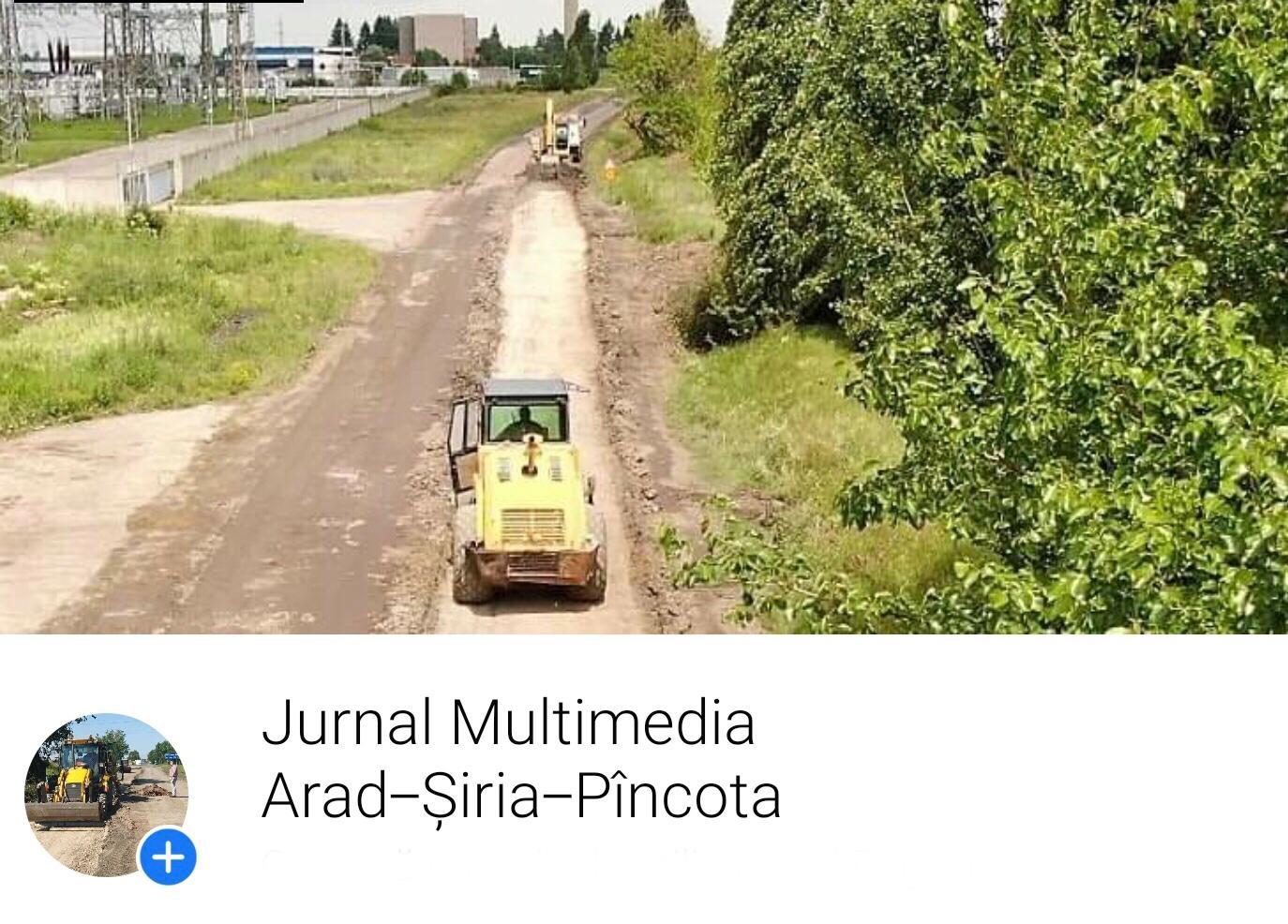Premieră în România: Consiliul Județean Arad a deschis un jurnal multimedia on-line pentru un drum județean în lucru!