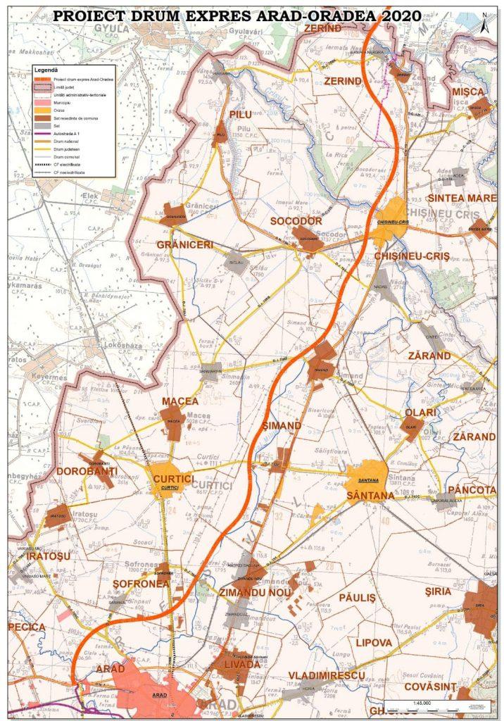 S-a aprobat parteneriatul pentru drumul expres Arad-Oradea!